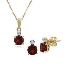 Parure con diamanti e gemme di colore fantasia in oro giallo con diamante