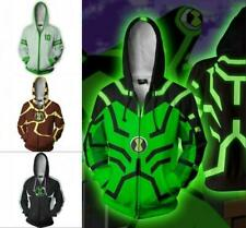 Alien Hero Ben10 Sweater  hoodie Sweatshirt Cosplay Costume ZIP UP coat Jacket