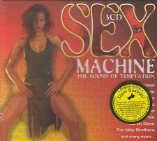 Sex Machine / The Sound Of Temptation , James Brown, Drifters, ua (3CD-Box,NEU!)