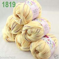 Sale 6 ballsx 50gr DK Baby Soft Cashmere Silk Wool hand knitting Crochet Yarn 19