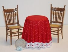 Dollhouse Miniature Christmas Table Chairs B 1:12 inch scale H109 Dollys Gallery