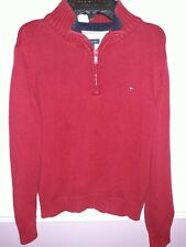 Tommy Hilfiger Boys S (8-10) 1/4-Zip  red KNIT SWEATER TOP