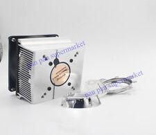 20W 30W 50W 100W LED Aluminium Heat Sink Cooling Fan+80degree 44mm Lens + Reflec