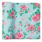 """Mud Pie E1 Baby Nursery Rose Floral Muslin Swaddle Blanket 47"""" 12140042"""