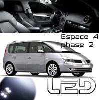 Renault ESPACE 4 PH2 IV 16 Ampoules LED Blanc Plafonnier coffre miroirs Coffre
