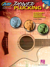 POWER PLUCKING GUIDE TO ACOUSTIC FINGERSTYLE GUITAR Music Book & CD Shop Soiled