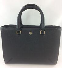 New Authentic Tory Burch Emerson (50707) Small Zip Tote Handbag Purse Black