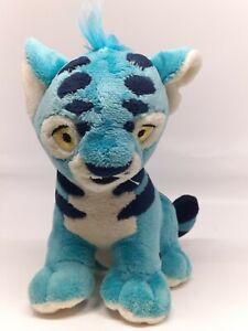 "Neopets Kougra Tiger Cat Blue Plush 6"" 2004 Stuffed Animal Toy Rare Collectible"