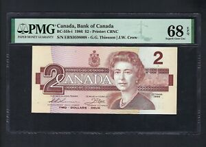 Canada 2 Dollars 1986 BC-55b-i Uncirculated Grade 68
