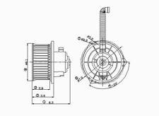 HVAC Blower Motor Front TYC 700050
