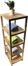 5-Tier Bamboo Shelf Natural Bamboo Standing Rack