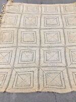 ANTIQUE HANDMADE ITALIAN RETICELLA NEEDLEPOINT French Coverlet Quilt TABLECLOTH