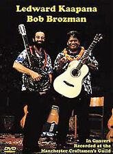 LEDWARD KAAPANA BOB BROZMAN TORN CELLOPHANE ON FRONT  MUSIC NEW DVD