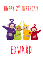 PERSONALISED BIRTHDAY GREETINGS CARD TELETUBBIES BOY GIRL 1ST 2ND 3RD 4TH 5TH