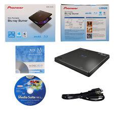 Pioneer 6X Slim Blu-ray DVD CD Burner+FREE 1pk MDisc BD+Cyberlink+Cable BDR-XD05