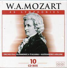 WOLFGANG AMADEUS MOZART - 46 SYMPHONIES - BOX 10 CD (NUOVO SIGILLATO)