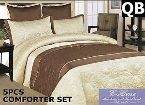 Microfibre 5Pc Emboridered Sateen Comforter Set Duvets Set 220gsm Filling