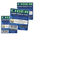 Harris Cider Yeast Premium Quality 5g makes 5-23L 1-5 Gallons X 3