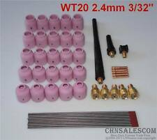 48 pcs TIG Welding Kit Gas Lens for Tig Welding Torch WP-9 WP-20 WP-25 WT 3/32""