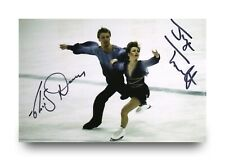 More details for torvill & dean hand signed 6x4 photo olympic ice dancers skaters autograph + coa