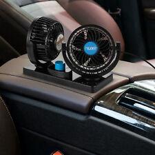 Adjustable DC12V Dual Fan 360° Rotating Mini For Auto Car Air Fan Cooler Quiet
