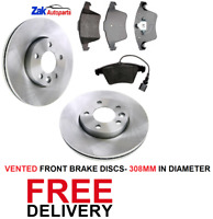 FOR VW TRANSPORTER T5 (2010-2014)1.9 2.0 2.5 TDi FRONT BRAKE DISCS & PADS SET