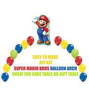 Super Mario Bros BIRTHDAY BALLOON ARCH DIY KITS Party Decorations, Sega Party