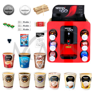 NESCAFE & AND 2GO COFFEE HOT DRINKS MACHINE 1400 PIECE PACKAGE EXPRESS DELIVERY