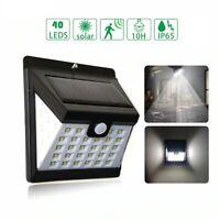 40 LED Solar Power PIR Motion Sensor Wall Lights Outdoor Security Lights