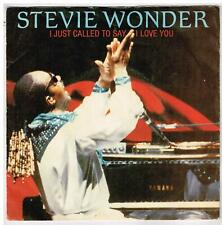 """Stevie  WONDER     I just call to say I love you    7"""" 45 tours SP"""