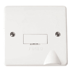 Click Scolmore Mode 13A Unswitched Fused Spur CMA050 White - Box of 10