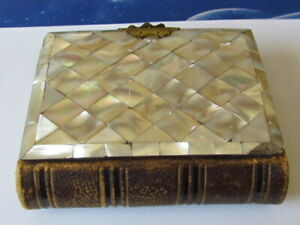 1860's cdv photograph album with mother of pearl cover