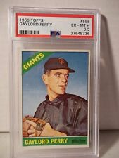 1966 Topps Gaylord Perry PSA EX-MT 6 Baseball Card #598 MLB HOF Collectible SP