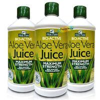 3x Aloe Pura Aloe Vera Gel Juice MAXIMUM STRENGTH 1 Litre