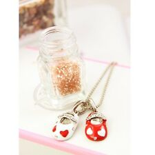 New Hot Cute Womens Girls Valentine's Day Style Heart Shoes Pendant Necklace Red