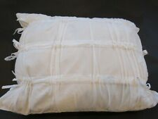 DNKY PURE INNOCENCE Self Ties Deco Pillow Milk White NWT