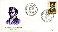 Belgien 1794 FDC, 100. Todestag Quetelet