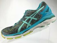 Asics Gel Kayano 23 Running Shoes - Aqua Lace Up Athletic Women's SIze 10.5