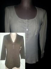 Lot of 2 Ralph Lauren Polo Rugby Womens Long Sleeves Shirt M Medium Beige Brown