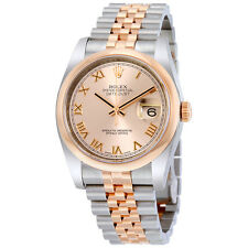 Rolex Datejust 36 Pink Dial Steel and 18K Everose Gold Jubilee Mens Watch