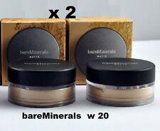 2 x BareMinerals MATTE SPF 15 Foundation MEDIUM BEIGE W 20 ! New in box