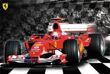 Classic Ferrari Formula 1 Michael Schumacher Hero Huge Auto Racing Poster (2004)