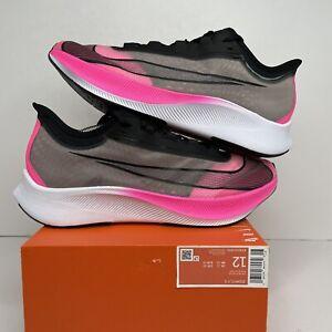 Nike Zoom Fly 3 Vaporweave Pink Black White Running Shoes AT8240-600 Men Size 12