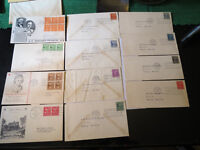 SCOTT #803,4,5,6,15-22 1938 PRESIDENTS ISSUE  FIRST DAY COVERS