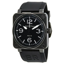 Bell and Ross BR 01 Instrument Automatic Black Dial Mens Watch BR0192-BL-CER-SRB