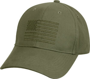 American US Flag Embroidered Low Profile USA Baseball Cap Adjustable Hat