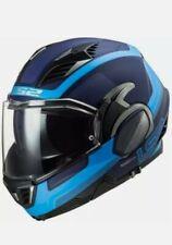 LS2 FF900 Valiant II Orbit Matt Blue Flip Front Motorcycle Bike Helmet size M