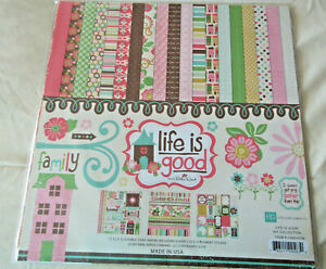 Echo Park Life is Good 12x12 Collection Kit Paper Stickers  Cards Scrapbooks