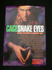 Snake Eyes movie poster Nicholas Cage Original Ds One sheet 1998