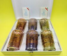 TIMON COLLECTION SHOT GLASSES SET OF 6 MADE IN  ITALY WITH CERTIFICATE